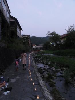 足助川の万灯まつり