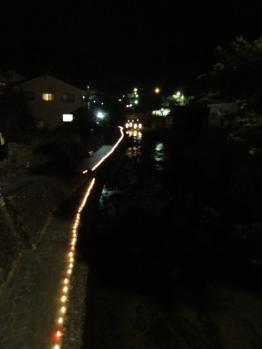 足助川のキャンドル
