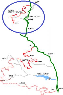 西名栗林道2