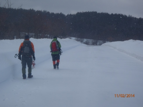 スノーハイキング臥龍山 001