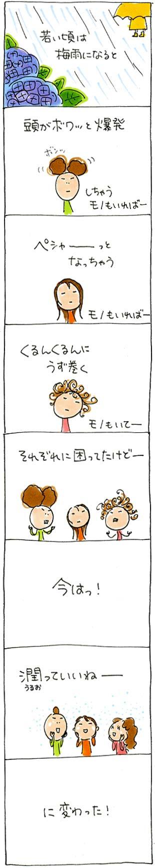 梅雨の髪の毛