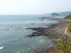 日南海岸の鬼の洗濯岩です
