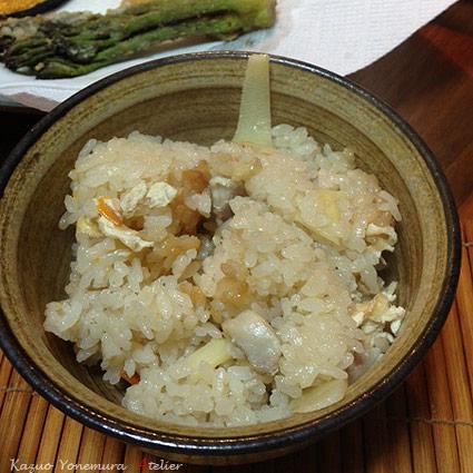 写真竹の子ご飯