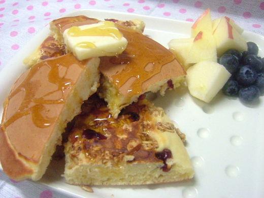 グラノーラホットケーキ