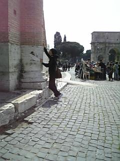 コロッセオにてミスタ風
