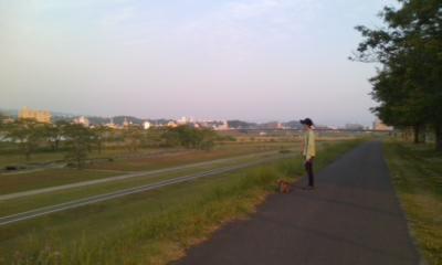 早朝お散歩