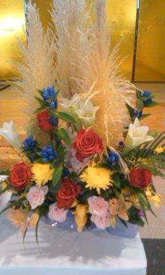 敬老祝賀会、花