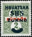 クロアチア加刷(1918)
