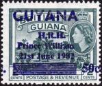 ガイアナ・ウィリアム王子誕生加刷
