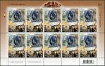 タイ郵政130年シート