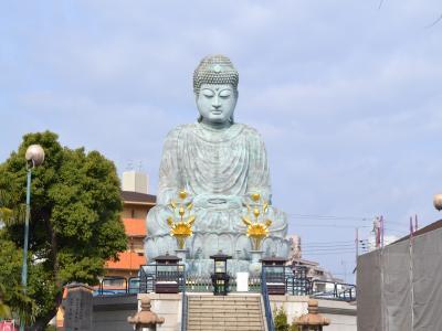 取材に行った時に撮影した日本三大仏の1つである「神戸大仏」(高さ=11m)