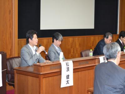 """IR促進法案""提出の経緯や理由について語る日本維新の会の松波健太衆議院議員"