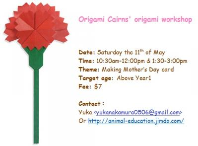 Mothers Day card workshop