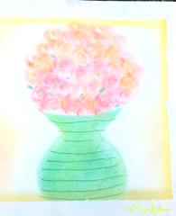 Pastel art rose