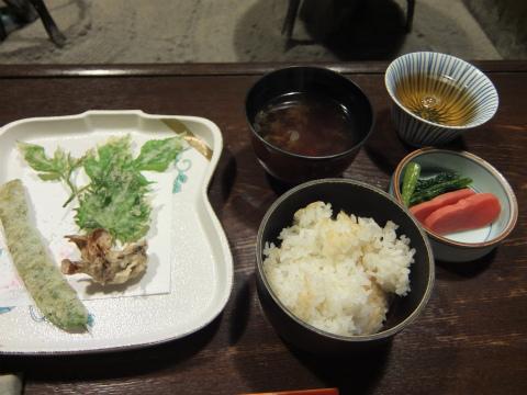 天ぷら、ご飯
