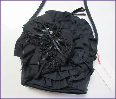 リボンブローチ黒②