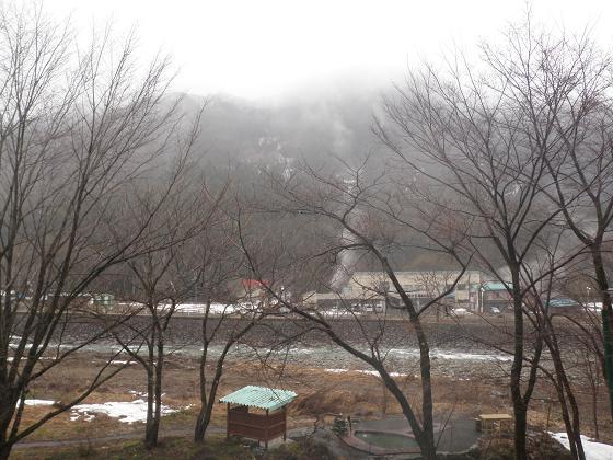 春雨の湯檜曽