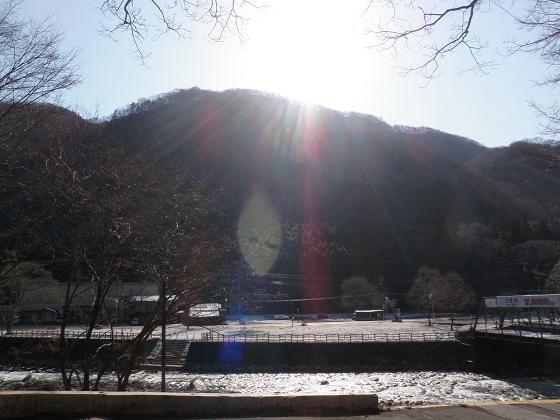 湯檜曽の朝日
