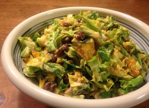 お豆とお野菜たっぷりサラダ