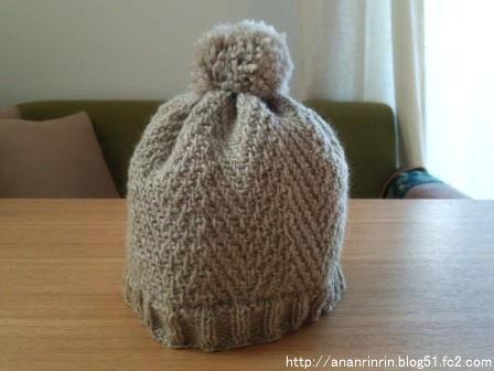 ヘリンボーン帽子1