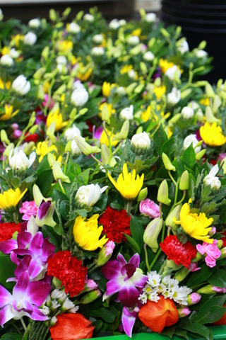 お盆 仏花