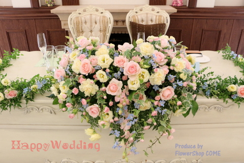 パステル かわいい 結婚式花
