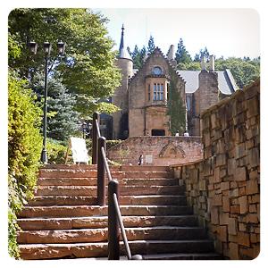 ロックハート城への階段