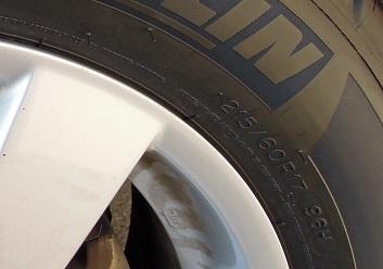 タイヤの表示