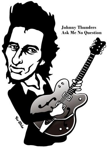 Johnny Thunders caricature