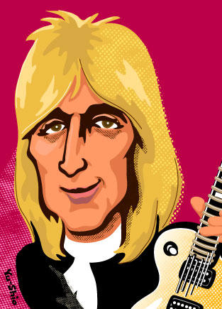 Mick Ronson caricature