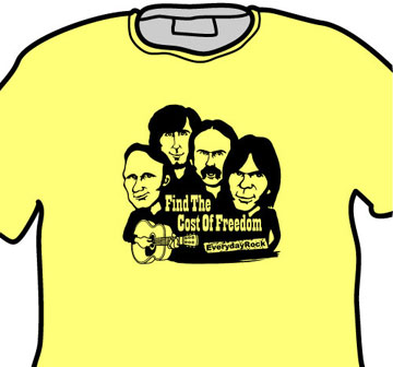 EverydayRock T Shirt CSN&Y Crosby Stills Nash Young Caricature