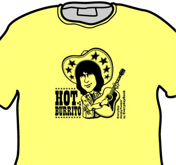 EverydayRock T Shirt Gram Parsons Flying Burrito Brothers Caricature