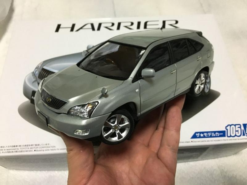 アオシマ ハリアー ベストカー 完成