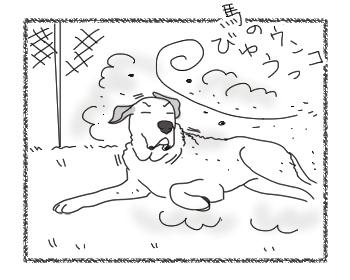 羊の国のラブラドール絵日記シニア!!「風上におく」3