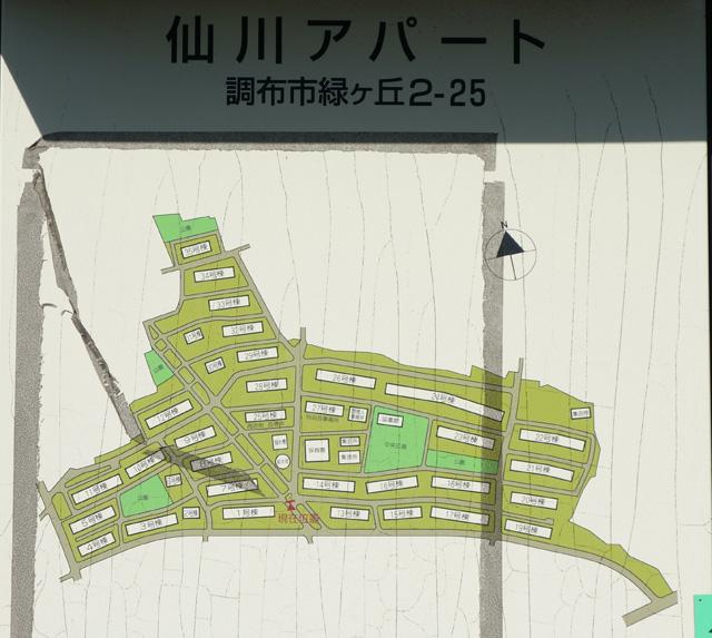 東京都営仙川アパートの案内図