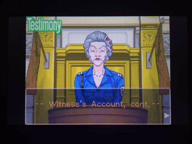 逆転裁判 北米版 オールドバグ証言2-1