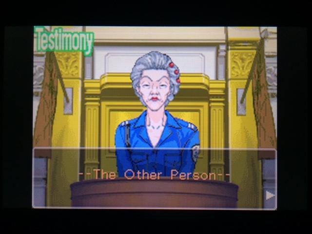 逆転裁判 北米版 オールドバグ証言3-1