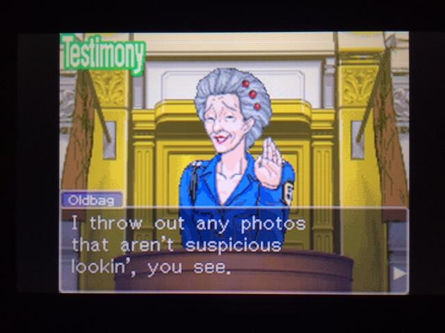 逆転裁判 北米版 オールドバグ証言3-3