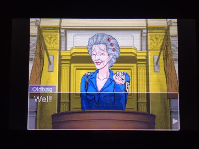 逆転裁判 北米版 オールドバグ証言3-15