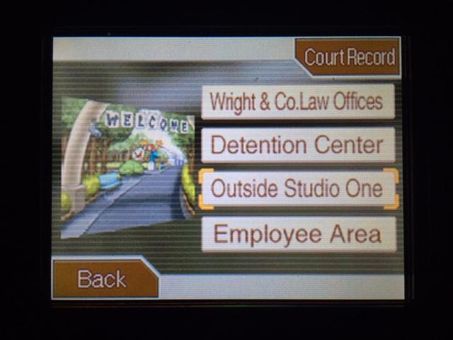 逆転裁判 北米版 スタジオへ移動1