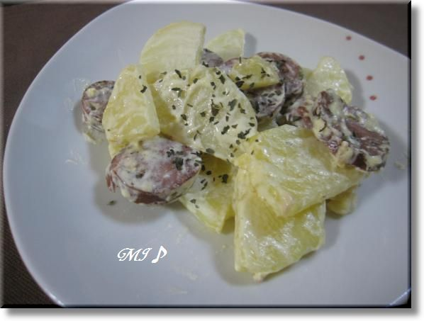 『ポテトとソーセージのカルダモンサラダ』