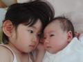 柑奈2歳と柚花0歳