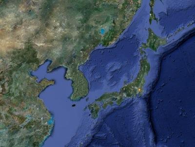 東亜地域の航空写真