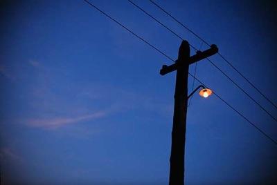 街灯裸電球