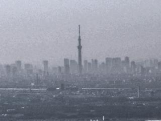 筑波山からの東京スカイツリー HDR