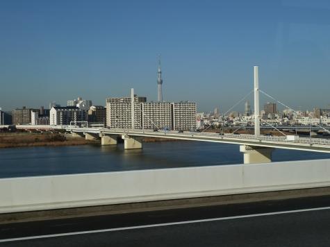 東京スカイツリーと清砂大橋(首都高速C2より)
