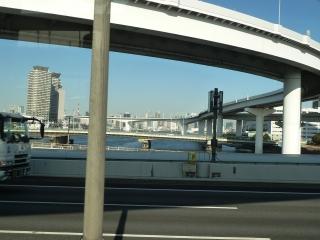 有明JCT~11号 台場線(首都高速 湾岸線より)