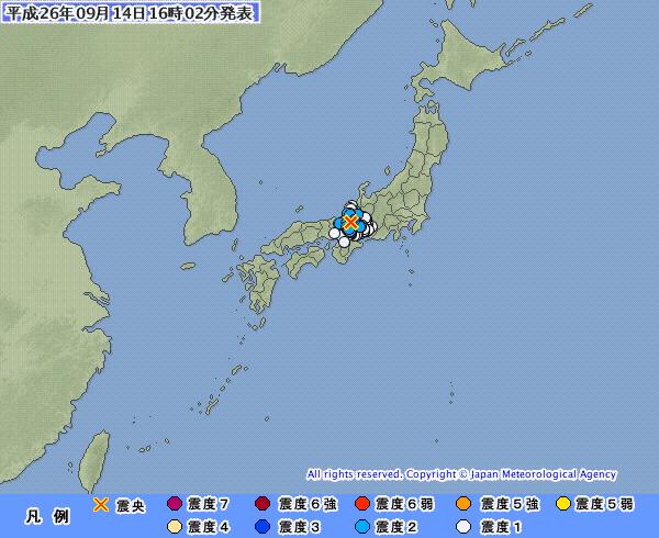 関西地方で続く地震…滋賀県北部と大阪湾