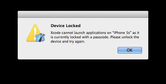 警告 Device Locked