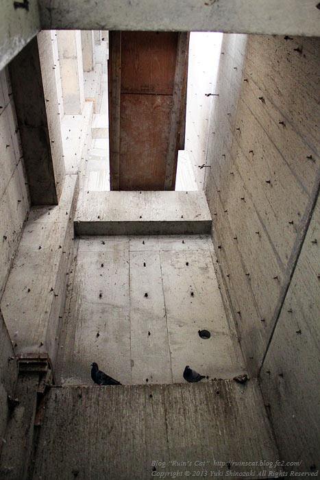 土浦のブラックマンション_エレベーターホール.jpg
